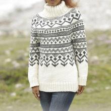 9067c3b5c3f Návod na pletený pulovr s norským vzorem z příze Drops Nepal